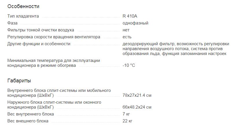Кондиционер Ballu BSLI-07HN1/EE/EU Характеристика 2